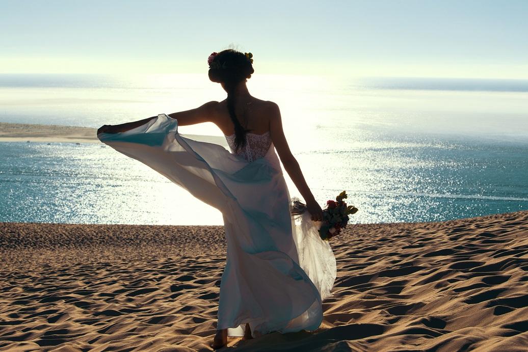 mariage mer soleil