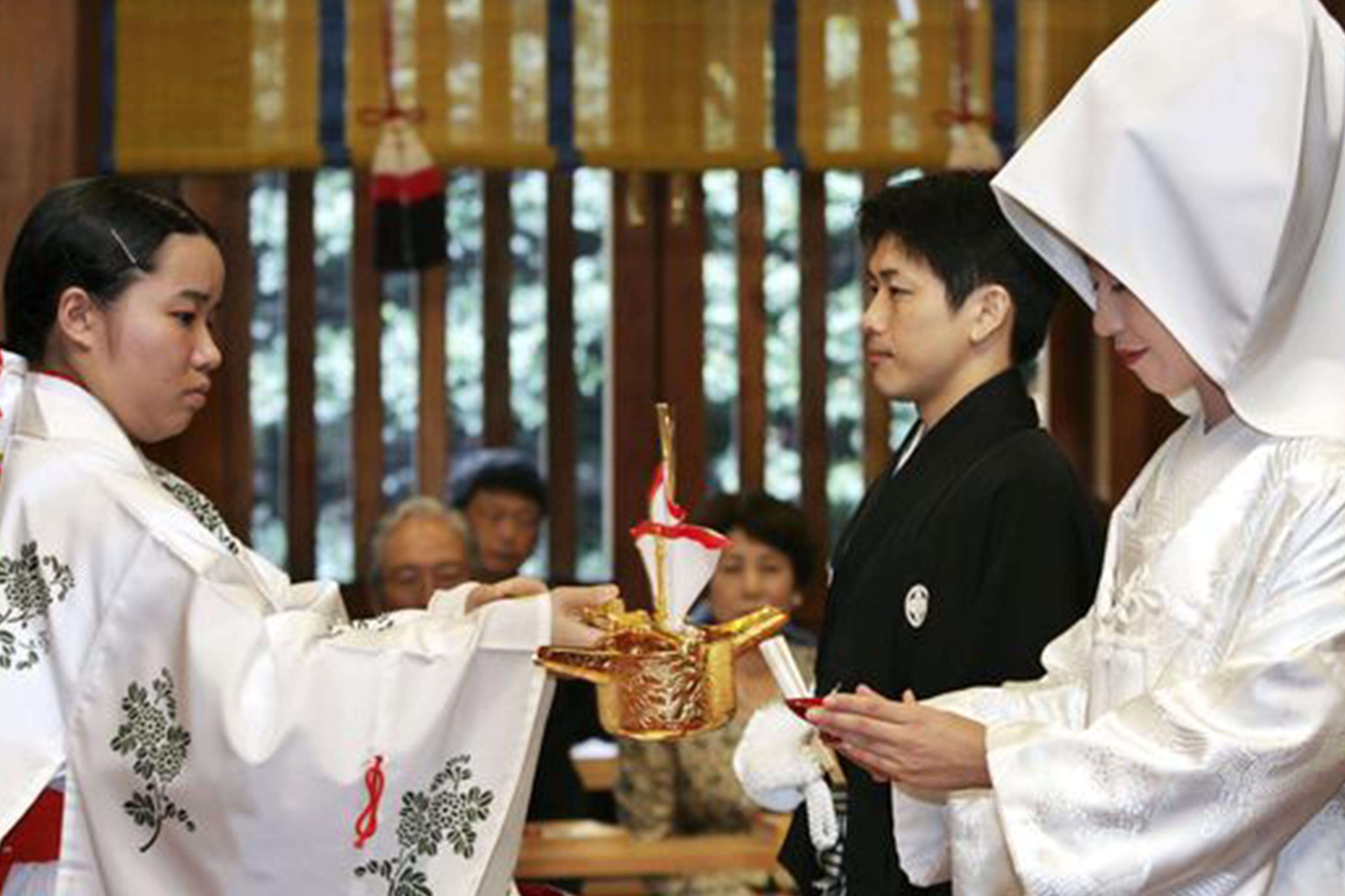 photo d'un mariage japonais