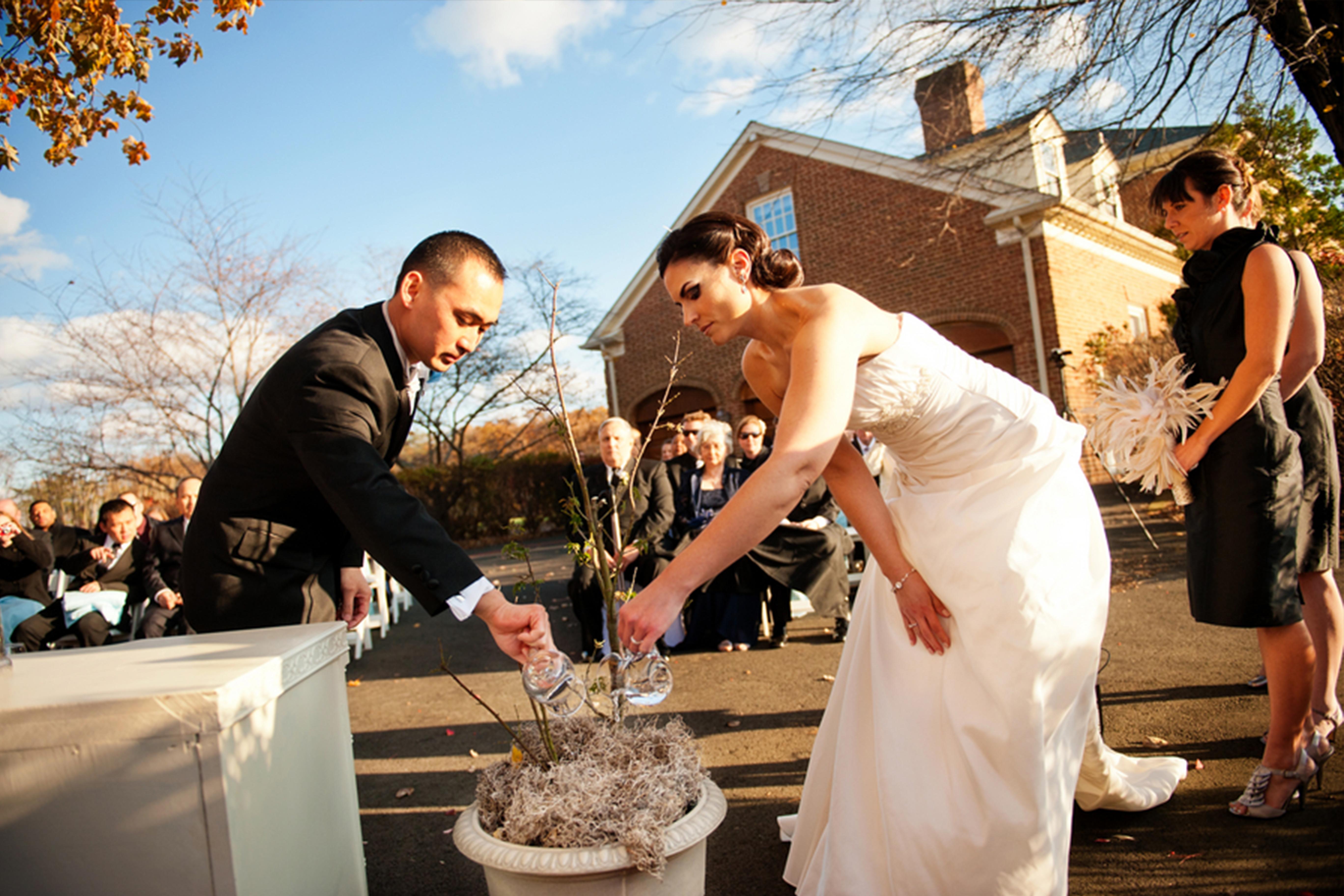 photo d'un mariage traditionnel allemand
