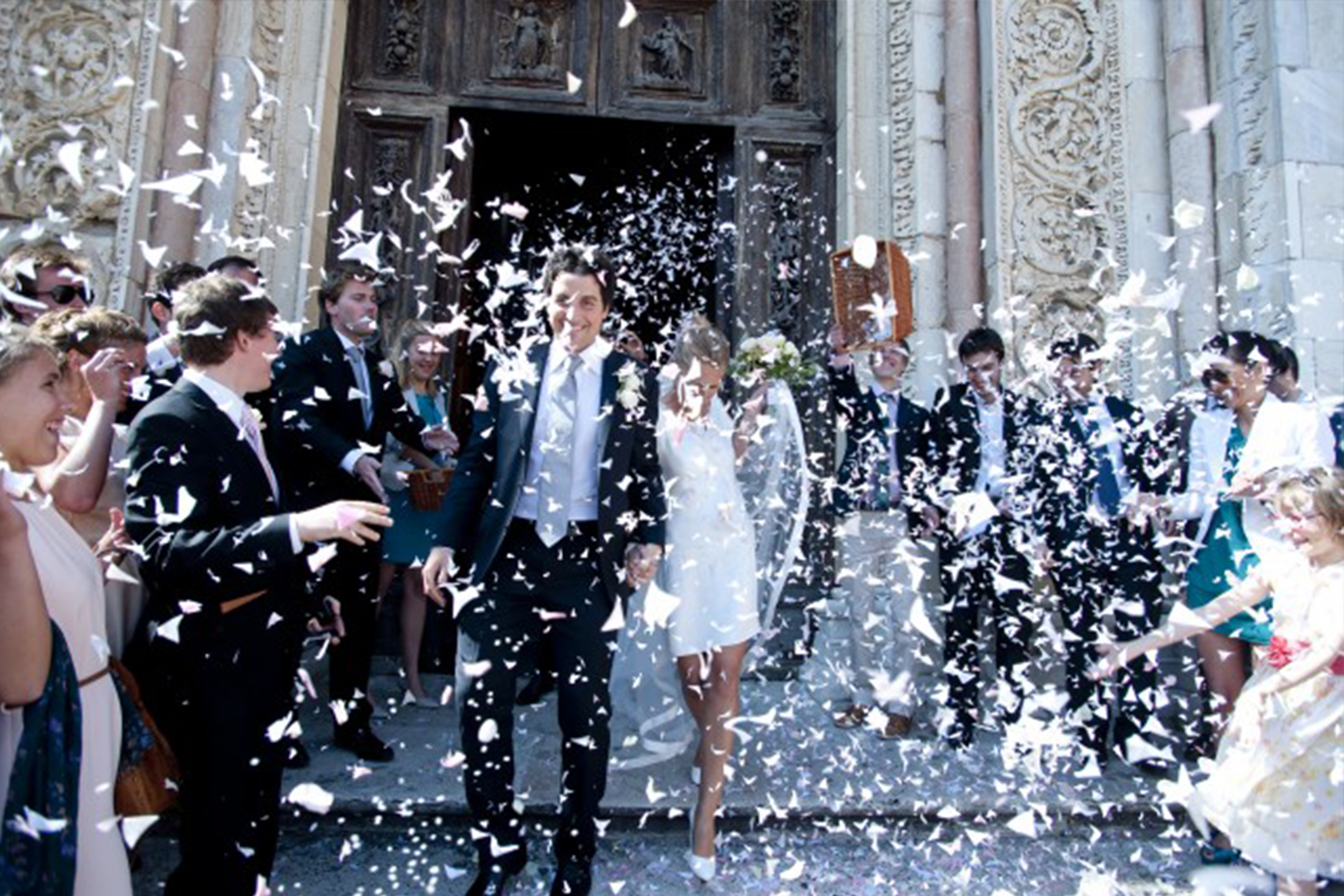 photo d'un mariage traditionnel italien