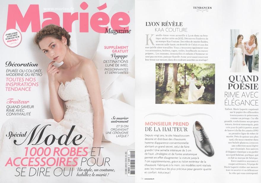 Double page Mariée Magazine