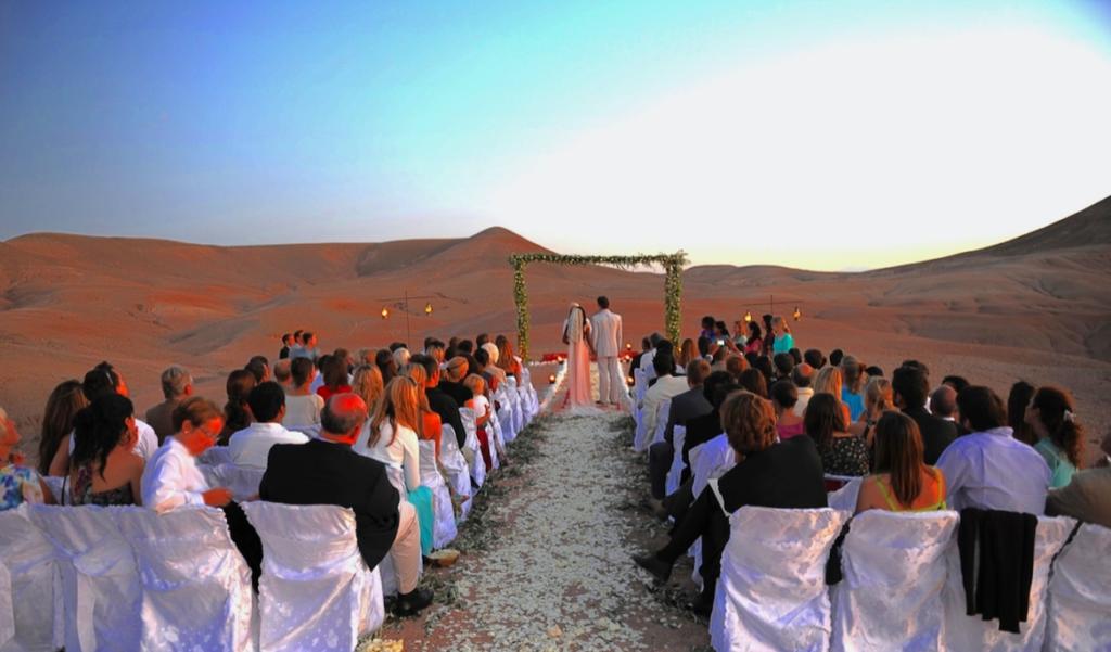 Lieu de mariage original : desert marocain