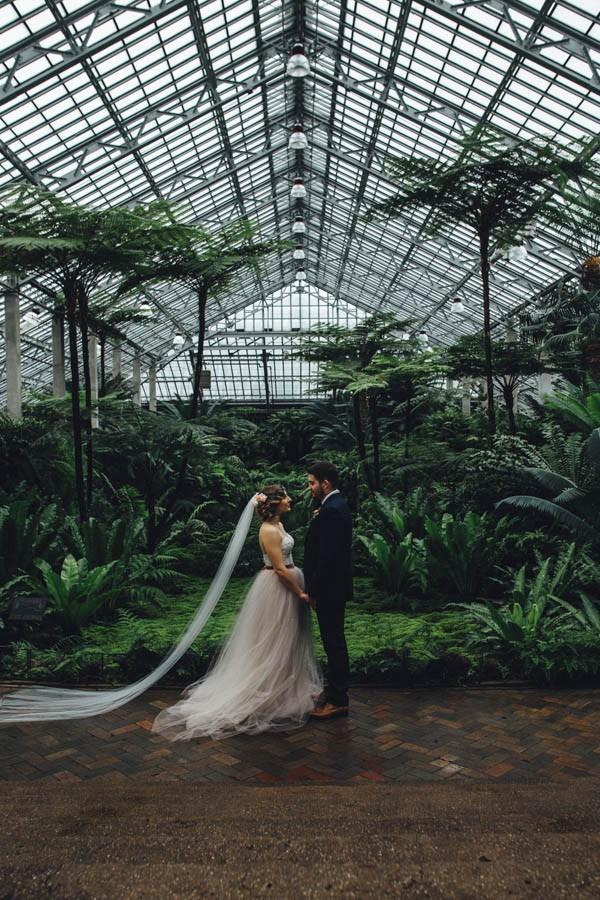 lieu de mariage original : sous une serre botanique