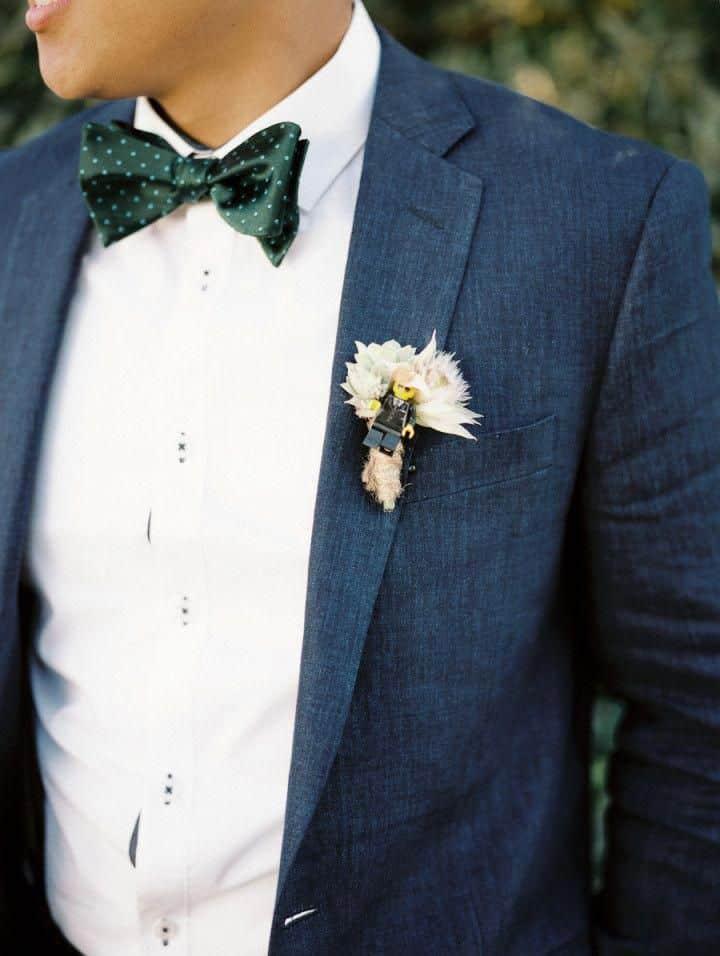 costume mariage bleu pétrole